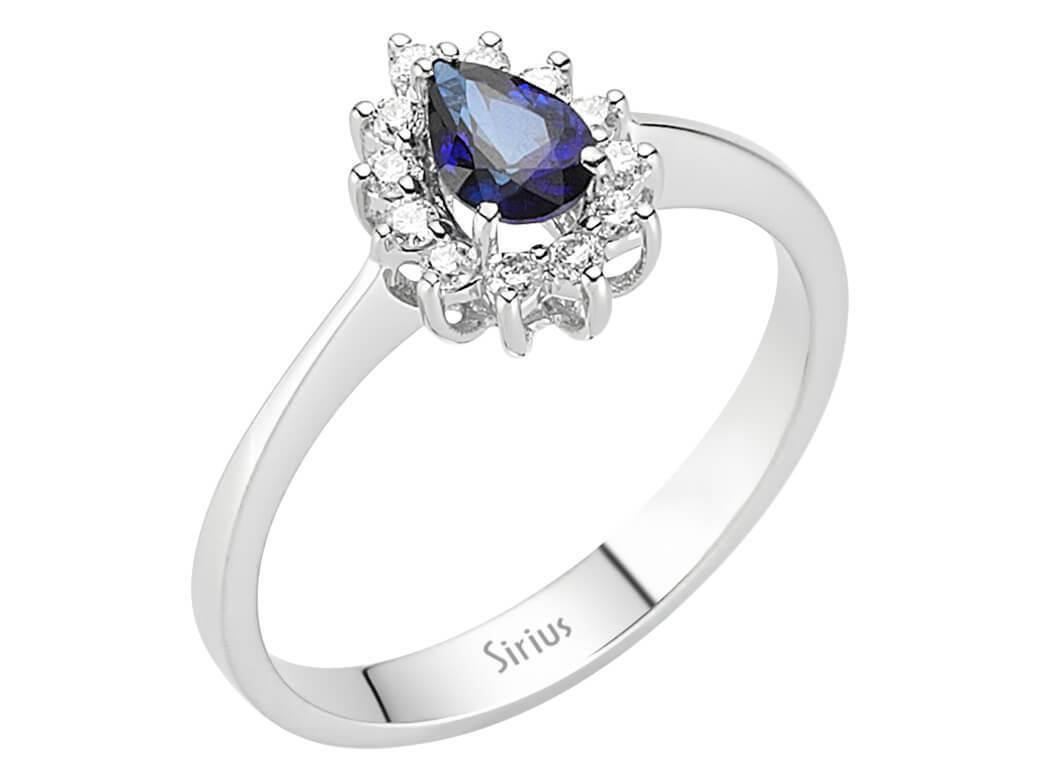 entrouge saphir diamant ring diamantring 18 karat gold 18 karat. Black Bedroom Furniture Sets. Home Design Ideas