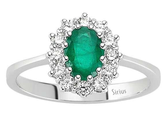 Weißgold ring mit saphir  Entrouge Smaragd Diamant Ring Diamantring 18 Karat Weissgold 18 Karat