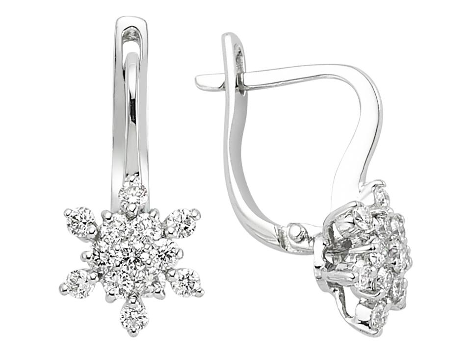 Ohrhänger  Diamant Ohrhänger 750 er 18 Karat Weissgold 18 Karat