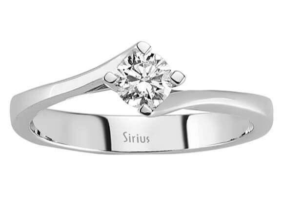 0 35 carat diamant solit r ring diamantring damenring 18 karat. Black Bedroom Furniture Sets. Home Design Ideas