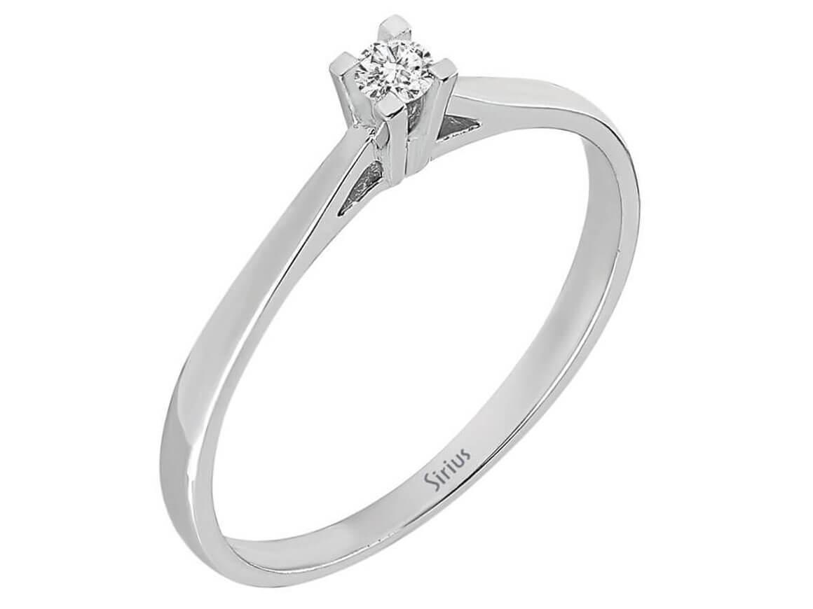 0 05 karat diamant solit r ring diamantring weissgold 18 karat. Black Bedroom Furniture Sets. Home Design Ideas