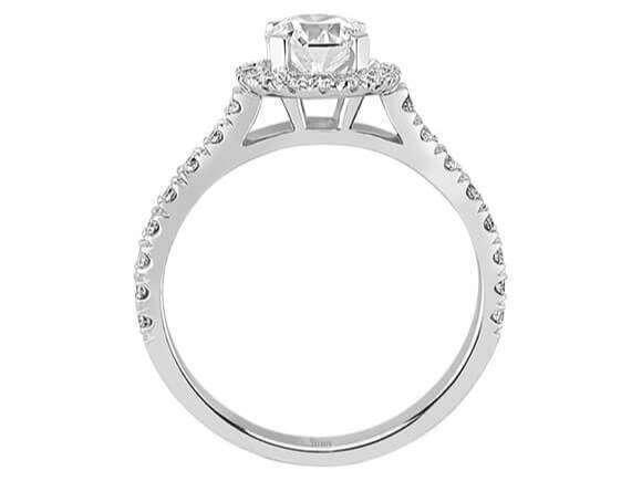 1 karat design diamant solit r ring diamantring weissgold 18 karat. Black Bedroom Furniture Sets. Home Design Ideas