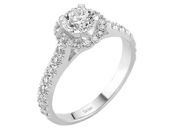 Diamantringe 1 karat  1 Karat Design Diamant Solitär Ring Diamantring Weissgold 18 Karat