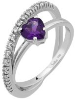 Diamant & Amethyst Ring