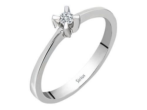 0,07 Karat Solitaire Diamant Ring in 333er 8K Weissgold