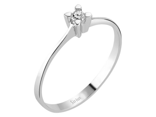 0,05 Karat Solitaire Diamant Ring in 333er 8K Weissgold