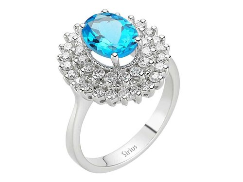 Entourage Topas Diamant Ring Diamantring in Weissgold