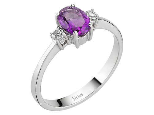 Amethyst Diamant Ring Diamantring Weissgold