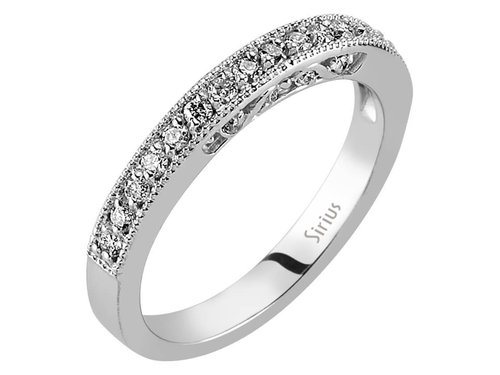Halbrund Diamanten Memoire Ring Memoirering