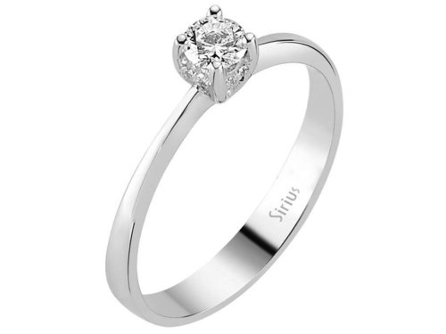 Design Diamant Ring Diamantring Weissgold 0,22 Karat