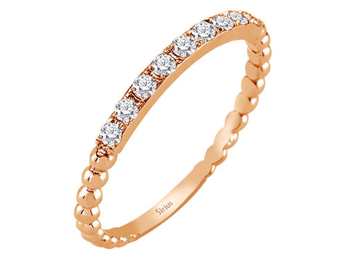0,19 Carat 9 Diamanten Ring mit Rotgold