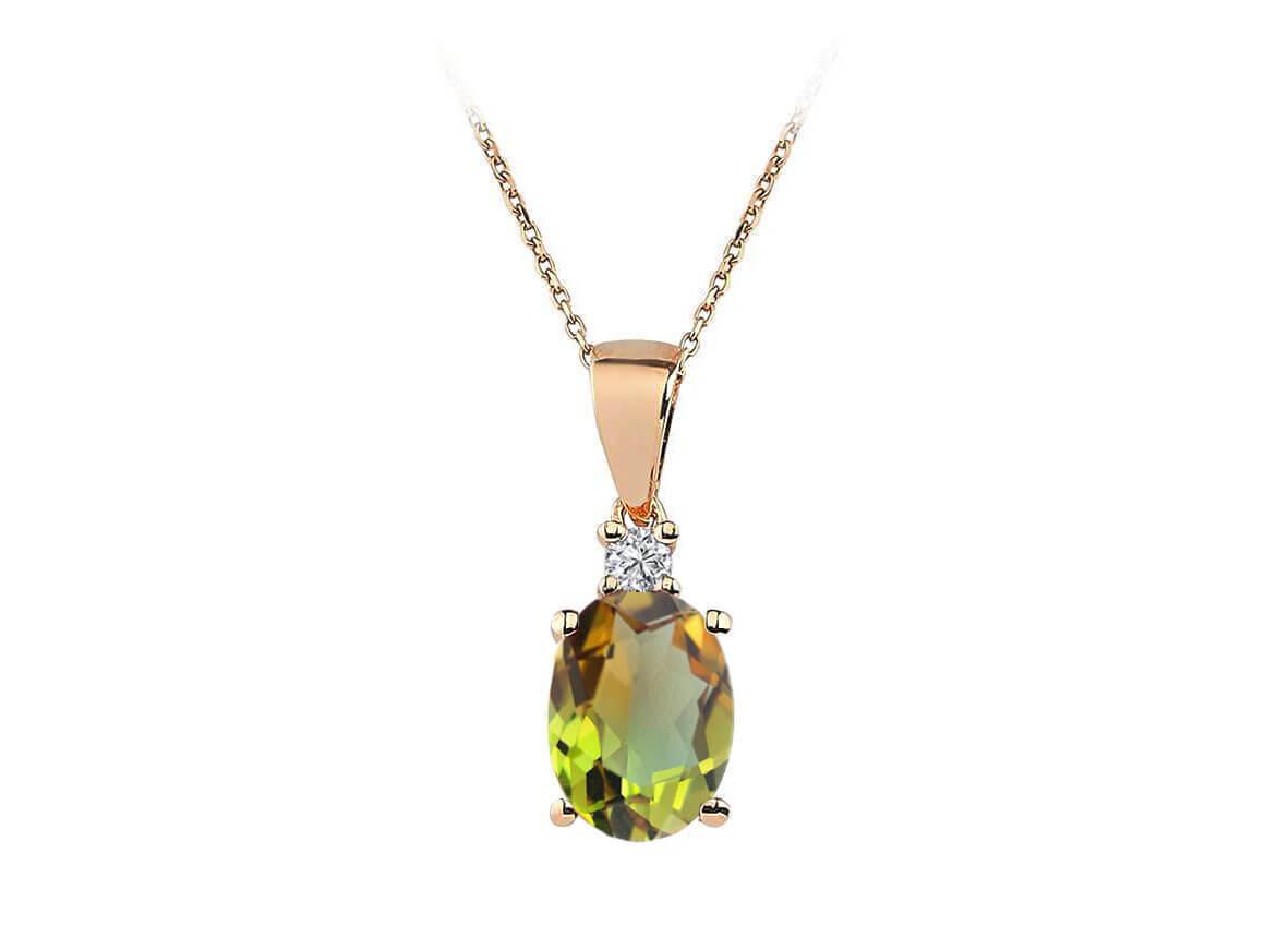 Diamant und Zultanit Harmonie Collier